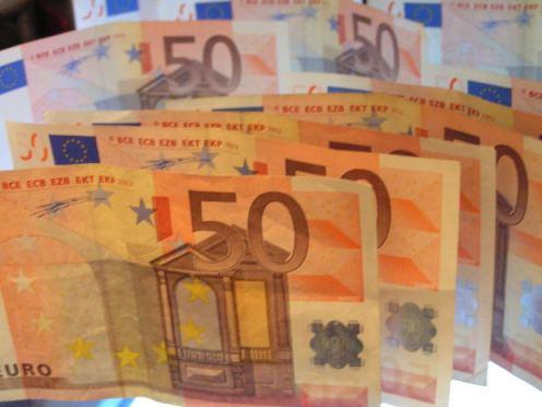 euro, soldi, pezzi da 50