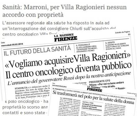 La Regione compra Villa Ragionieri