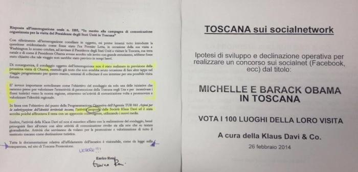 Klaus Davi sondaggio Toscana