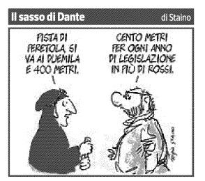 La vignetta di Staino oggi sul Corriere Fiorentino